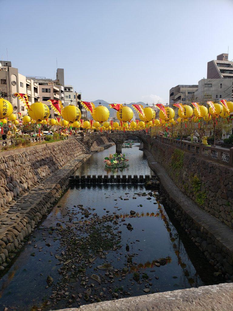 長崎ランタンフェスティバル 眼鏡橋風景